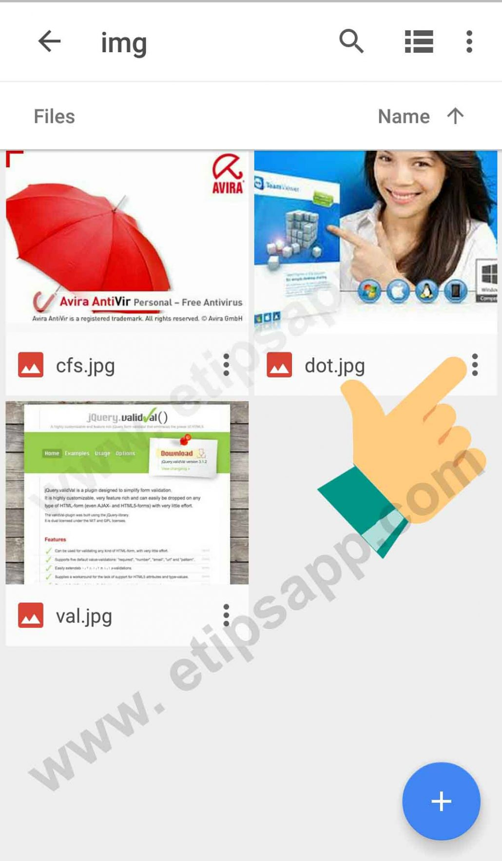 download document on tablet from google drive