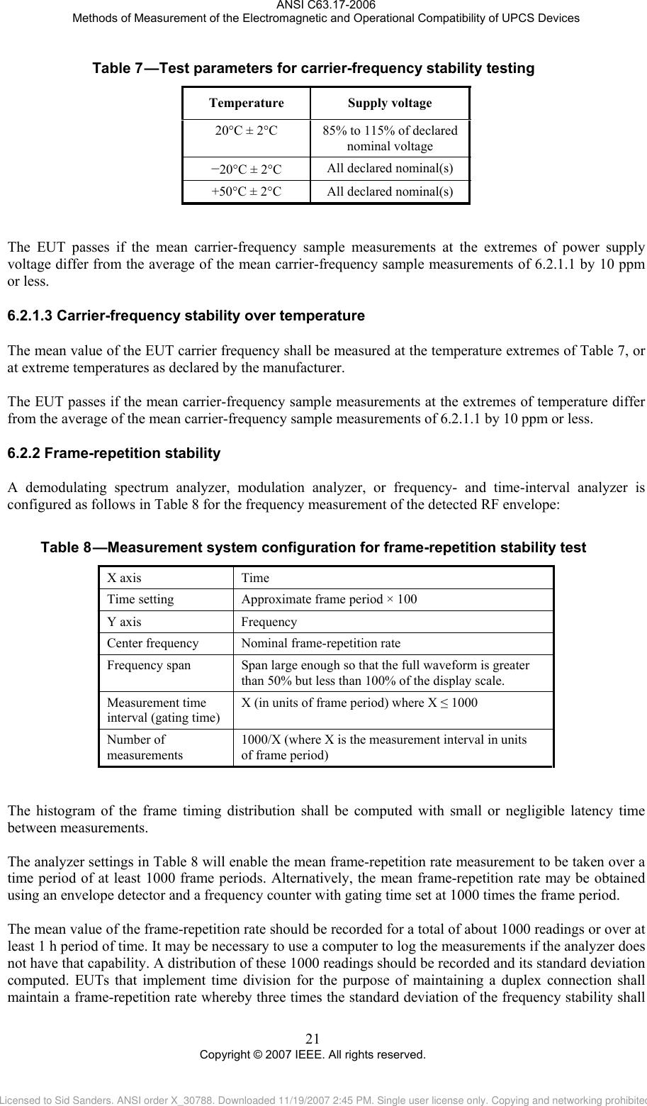 a user documentation standards