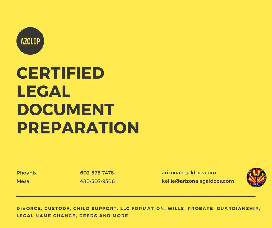 arizona board of certified legal document preparers