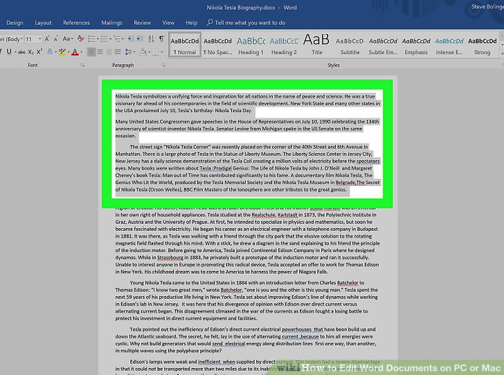 how to shrink word document on mac