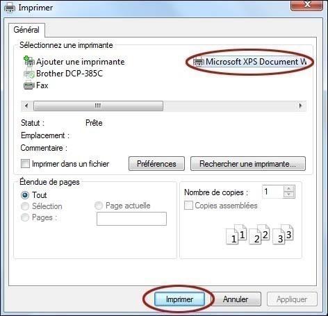 microsoft xps document writer format