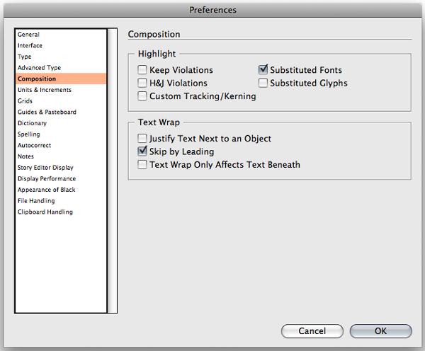 indesign spell check whole document