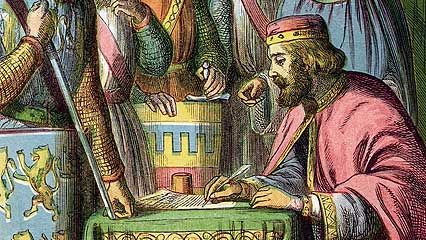the magna carta of 1215 was the first document establishing