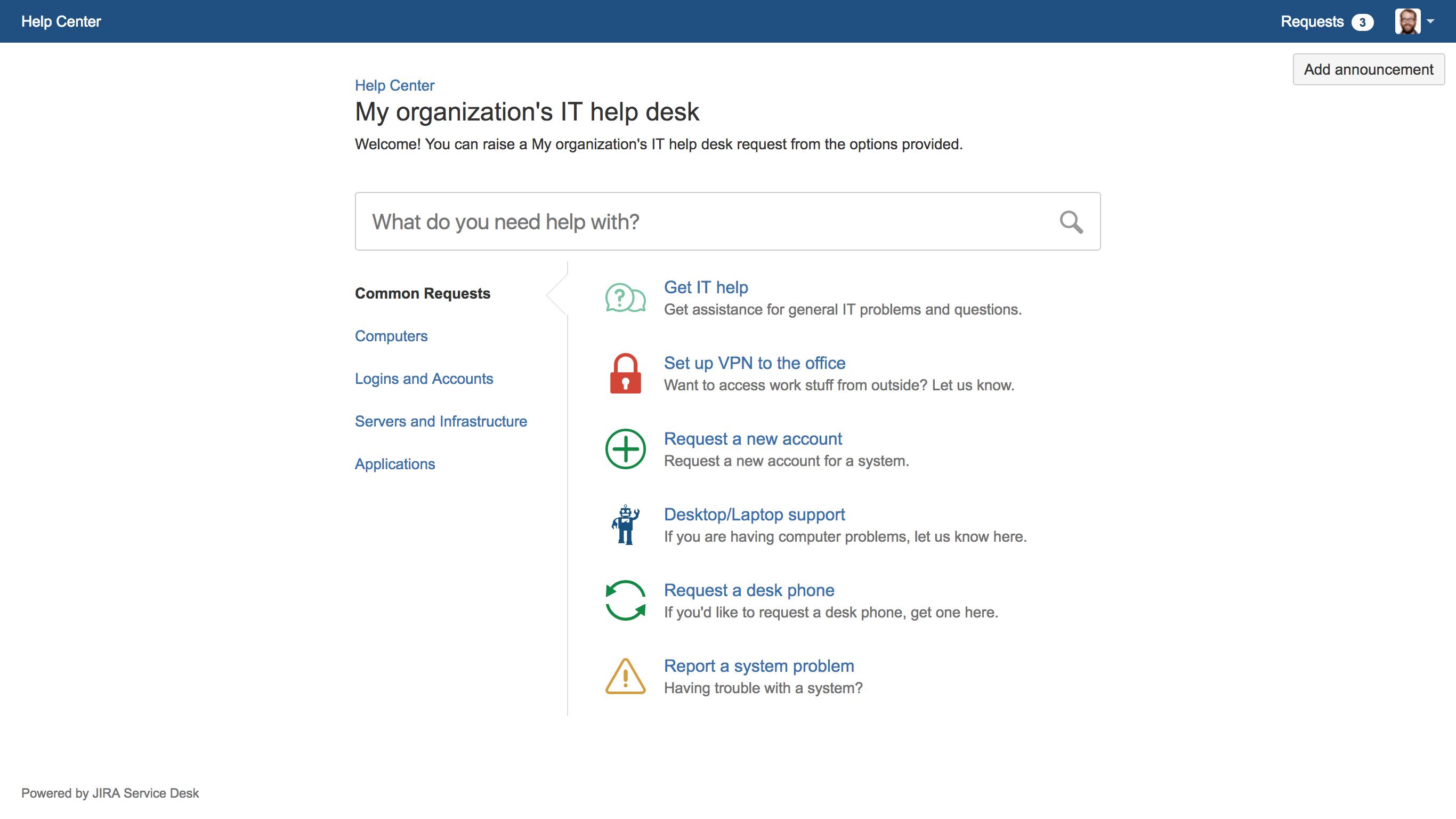 help desk project documentation