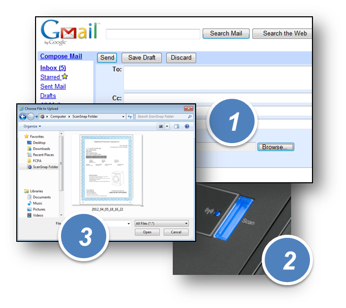 how to convert scanned gmail document to a pdf file