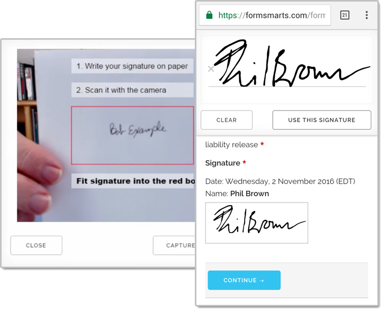 electronic signatures signed a document