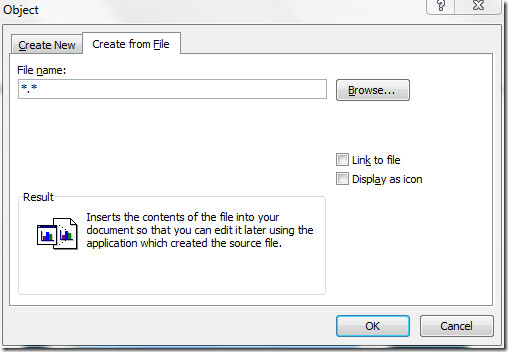 embed document in word 2010