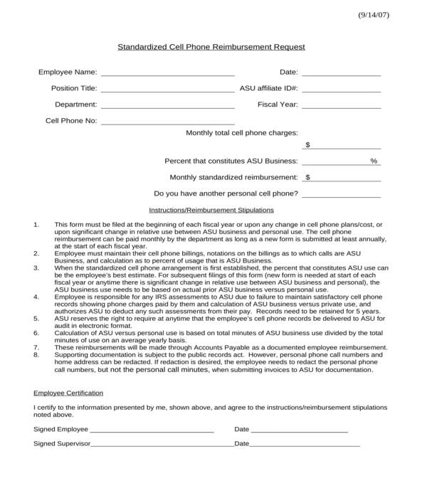 employee agreement for cell phone document sample