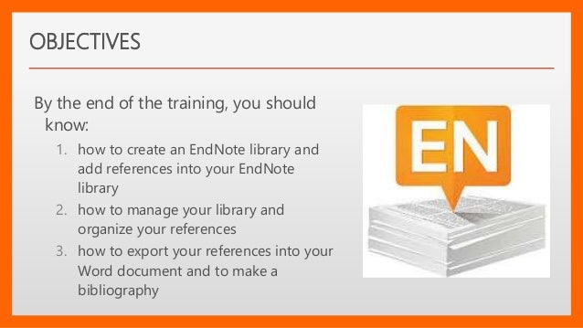 endnote biliography in word master document