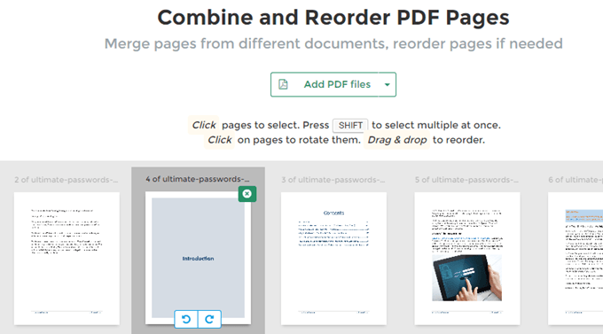 extract pages of a pdf document