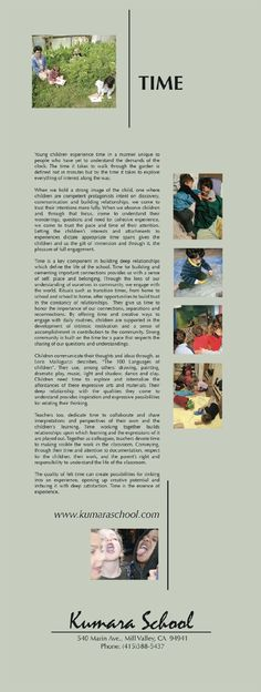documentation panels in early childhood education examples