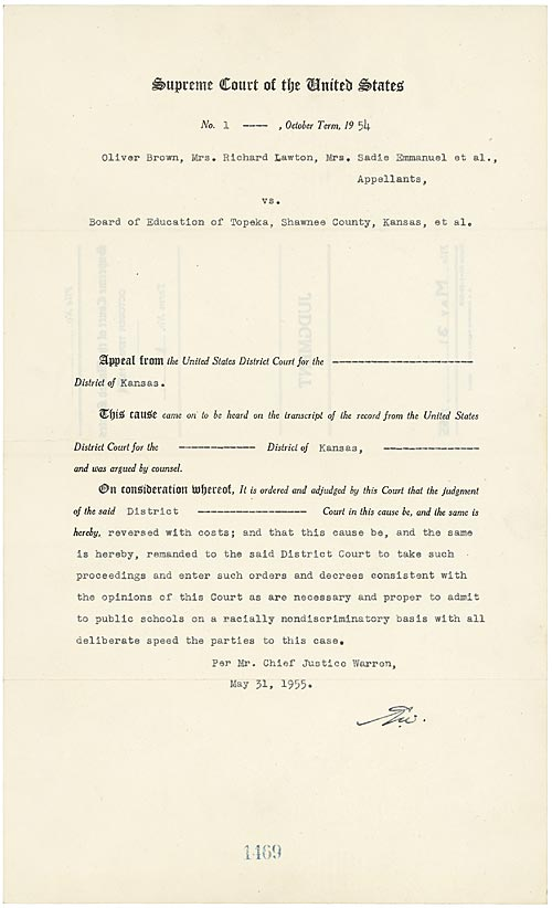 separate but equal official document