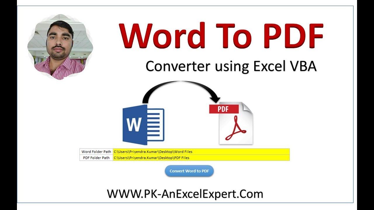 convert word document to pdf using vba