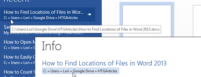 file location path word document
