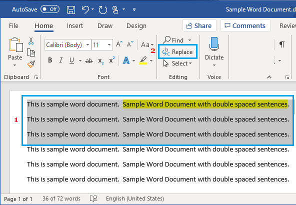 find duplicates in word document