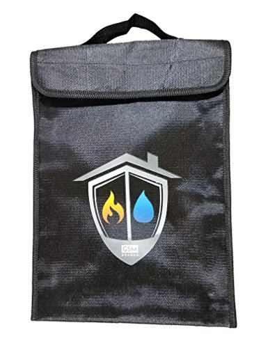 fire resistant safe document protection bag