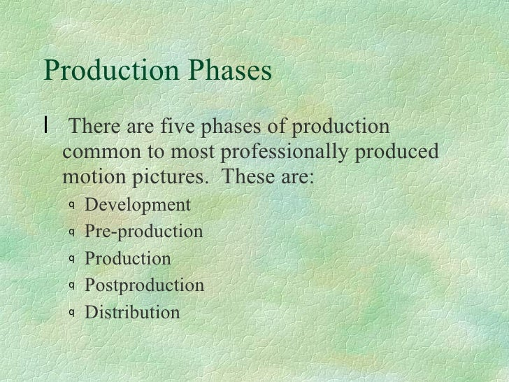five phases of document production process