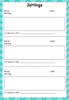 free early education learning documentation templates