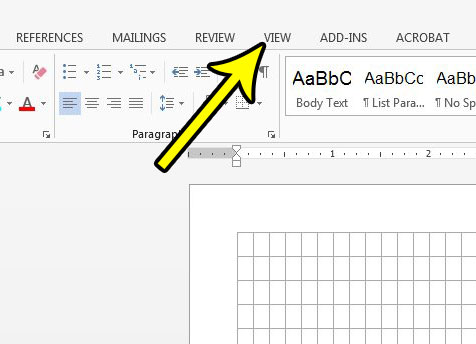 getting rid of line in word document