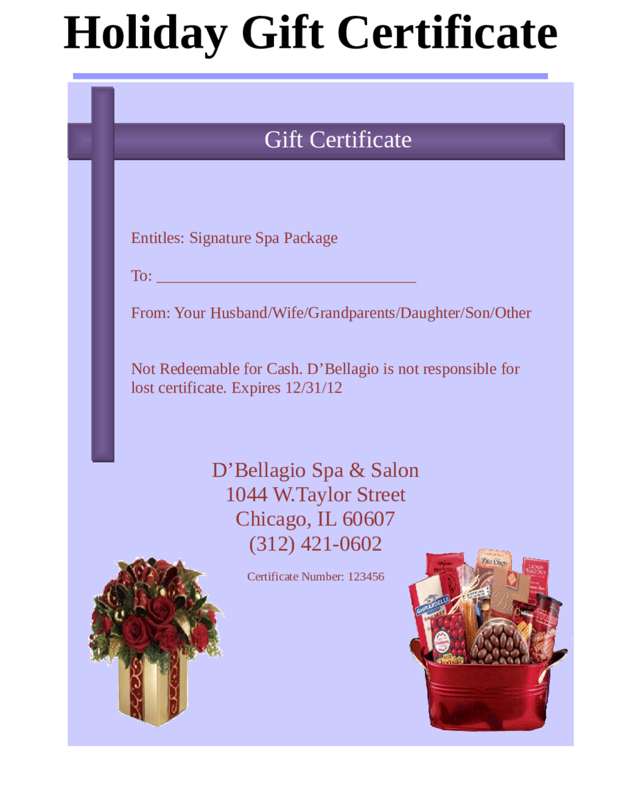 gift certificate template word document