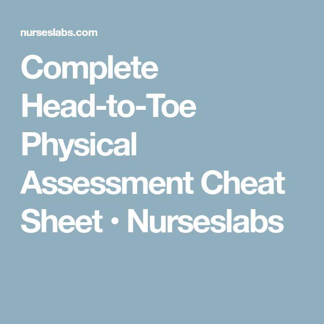 head to toe assessment documentation cheat sheet