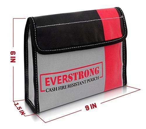 high temperature fireproof document pouch for money