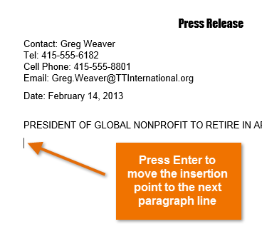 how can i place text anywhere on a word document