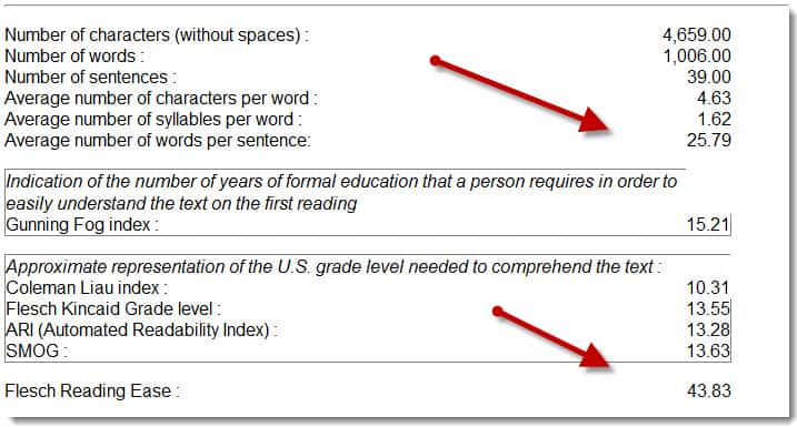 how can improve the readability of a document by