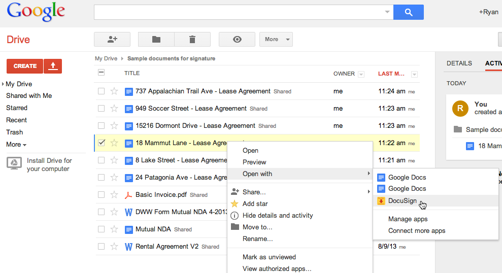 how can u save document on google drive