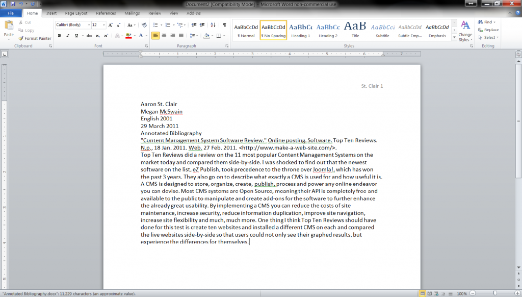 how do i create double spacing in a word document