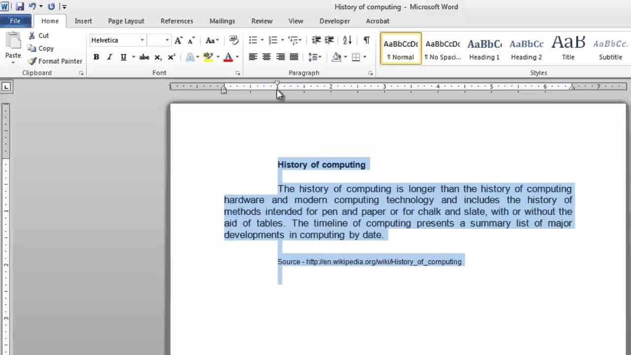 how do you create a new document
