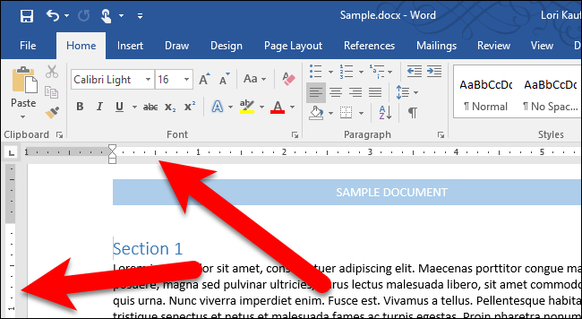 how do you flip a word document to horizontal