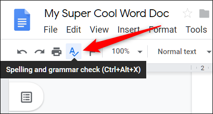 how do you spell check a document in word