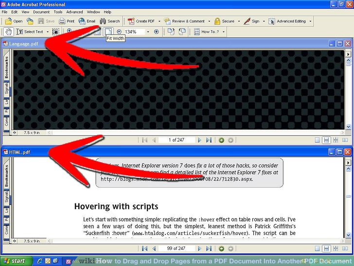 how to add a second page to a pdf document