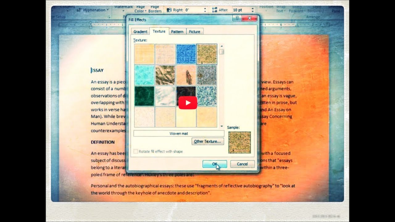 how to add background image to word document 2010