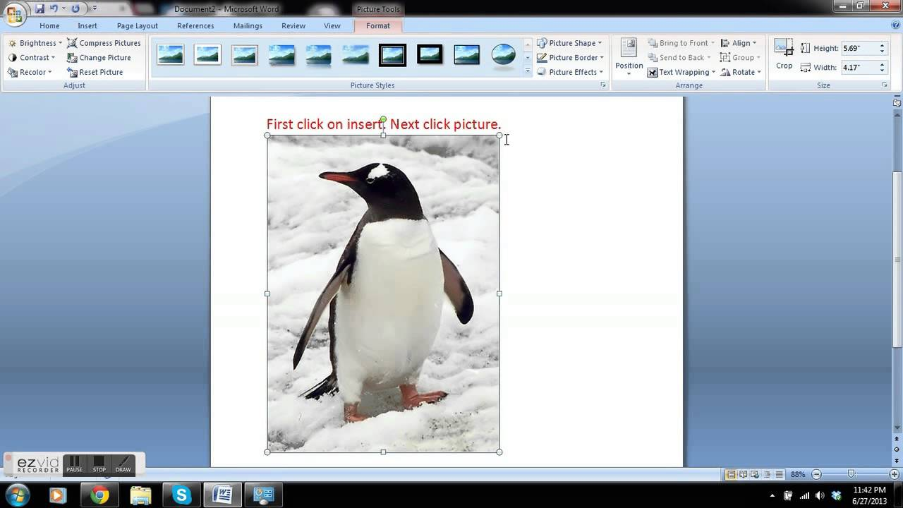 how to add picture to word document