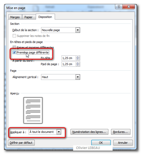 how to assign page1a to page 2 in word document