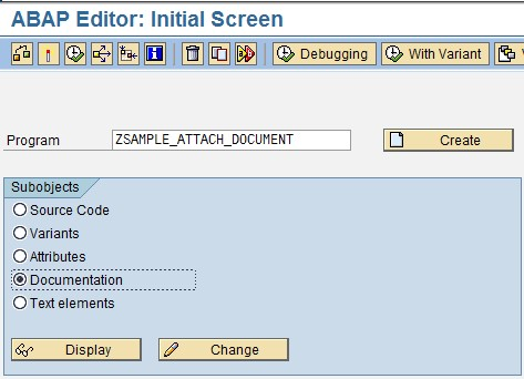 how to attach document in sap