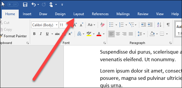 how to change one page to landscape in word document