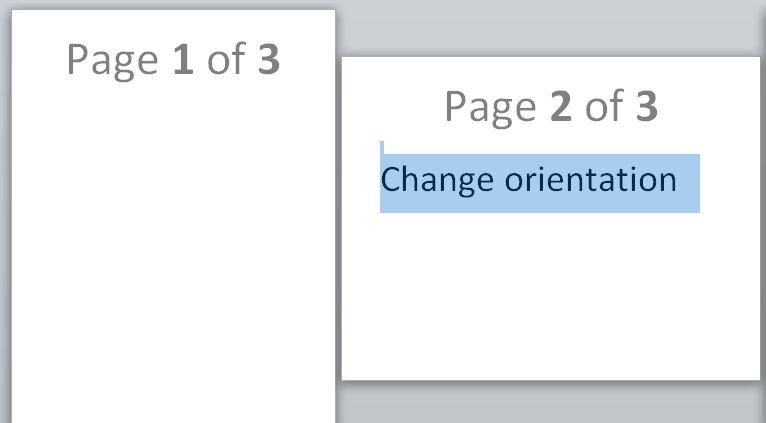 how to change word document orientation one page 2016