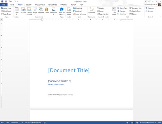 how to cover whole word document
