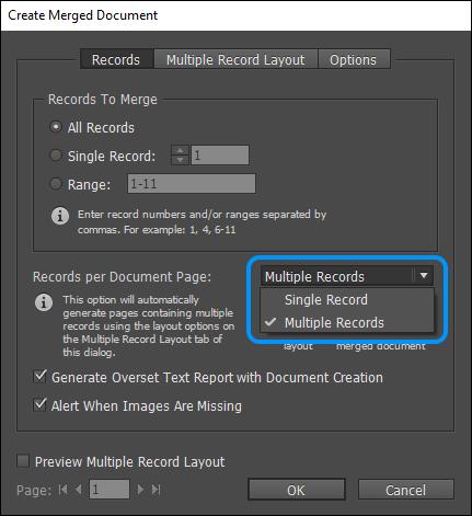 how to create a merge document