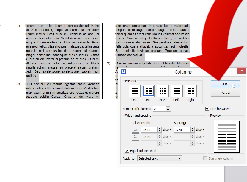 how to create a multi document in word