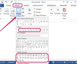 how to draw shapes in word document