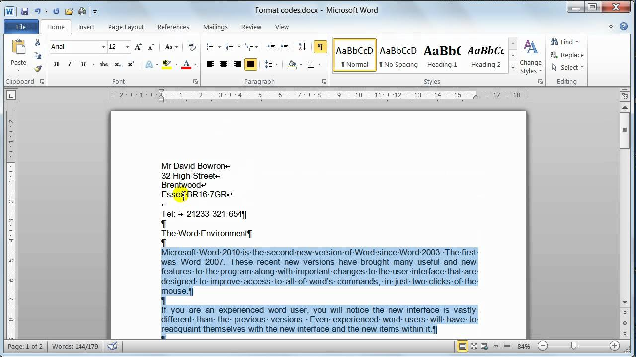 how to find a document in word 2010