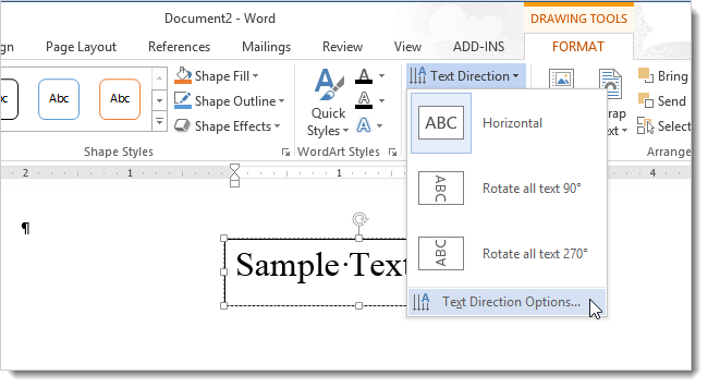 how to flip a word document