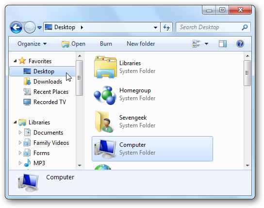 how to go to recent document in ewindows7
