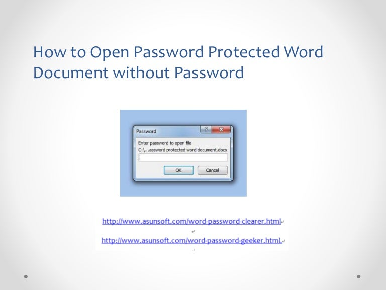 how to hack a password protected word document