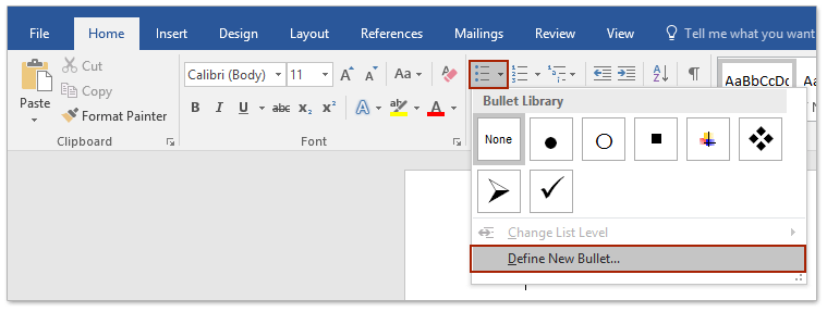 how to insert a tick in a word document