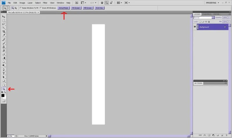 how to make a document bigger in mc word